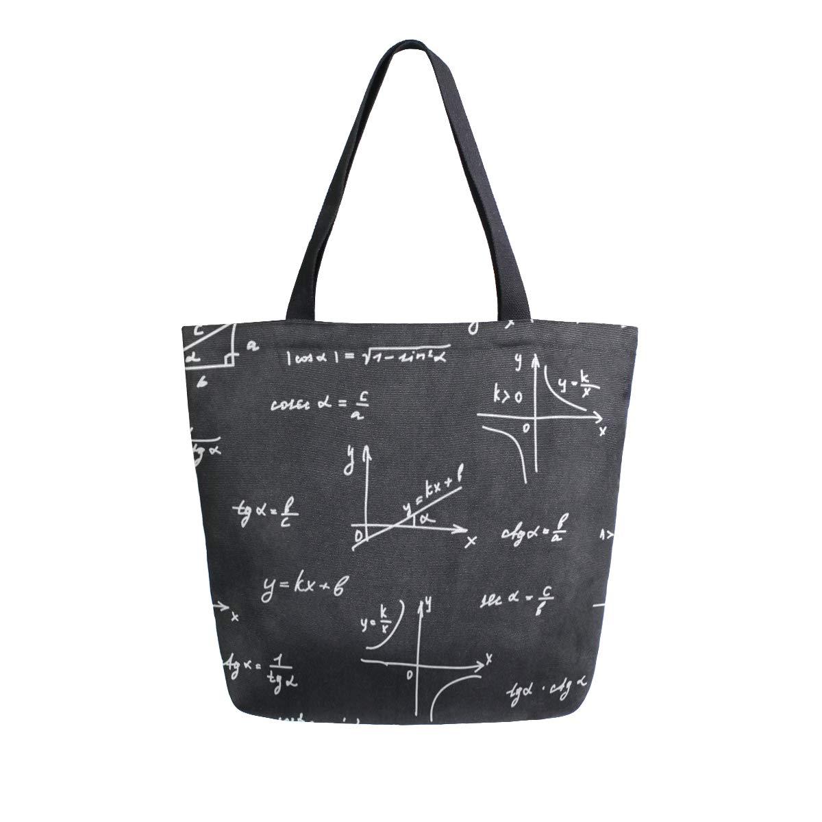 Canvas Tote Bag Black White...