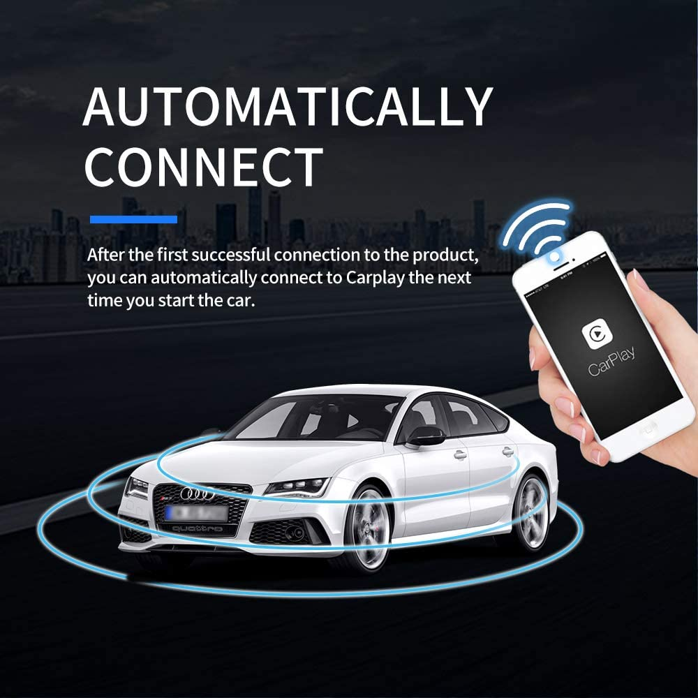 Factory Wired Carplay to Wireless Carplay,Support Online Upgrade dongle Carlinkit 2.0 Wireless Carplay Dongle Upgrade Activator for Benz//Audi//Porsche//Volvo Cars with Factory Carplay iOS13 or Above