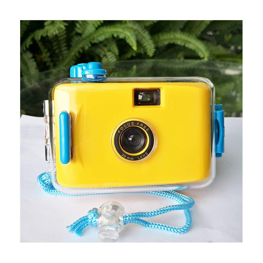 JIDI 2PCS Multi-Colored Disposable Camera Waterproof, Pool Underwater Film Camera 35mm, Mini Camera Disposable Film Excellent Performance,M by JIDI