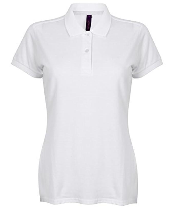 Henbury de mujer micro-fino Piqué Polo - Blanco, XX-Large / 40
