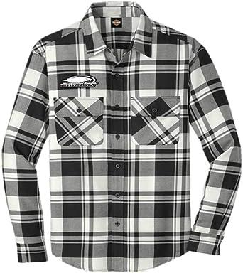 205 Harley-Davidson Men/'s Official #1 America Back Plaid L//S Flannel Shirt