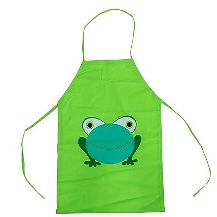 56fd508381cbd2 Enfants etanche Tablier de bande dessinee de grenouille, NaiseCore Tabliers  de Cuisine pour Enfant en