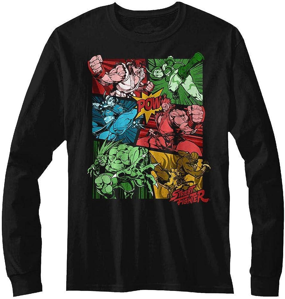 Camiseta Graciosa de Street Fighter Video Juego de Arcade de Artes Marciales Cómic Camiseta de Manga Larga para Adultos: Amazon.es: Ropa y accesorios