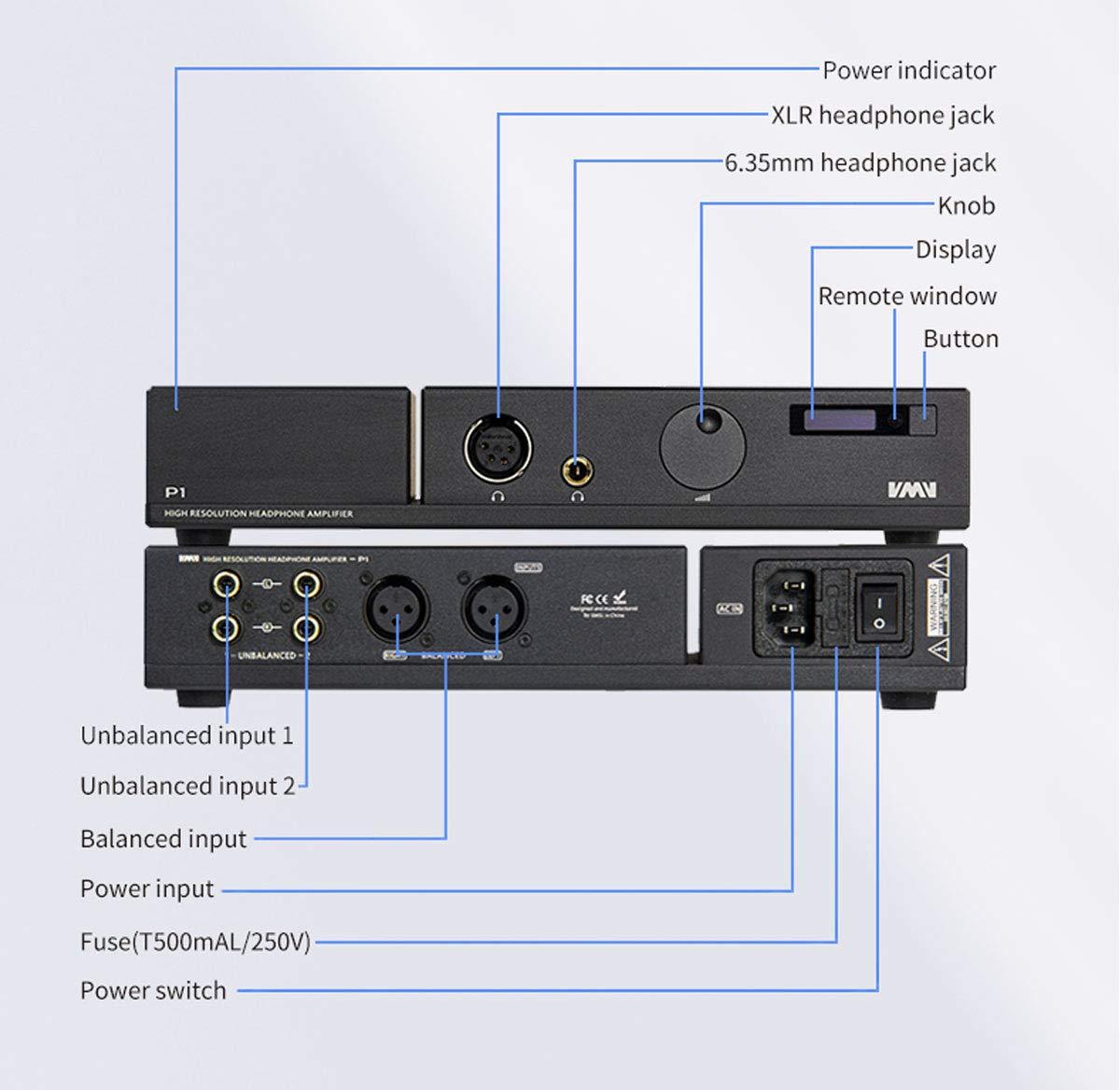 SMSL SP200 Amplificador de Auriculares Tecnolog/ía THX AAA 888 Amplificador de Auriculares balanceado XLR RCA