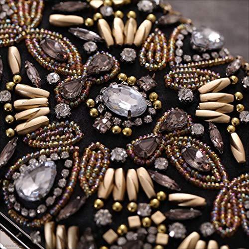 Rigide Da Americana Poliestere Borsa Lylyss In Banchetto Con Europea Perline E Pranzo 8wSHw5Wq