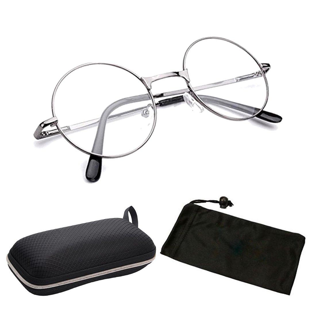 8c7ad7215c ( VRO1 GM) Gun Metal +1.00 One Stop Discount Shop- Designer Round Oval Reading  Glasses Reader Spring Hinge Harry Metal