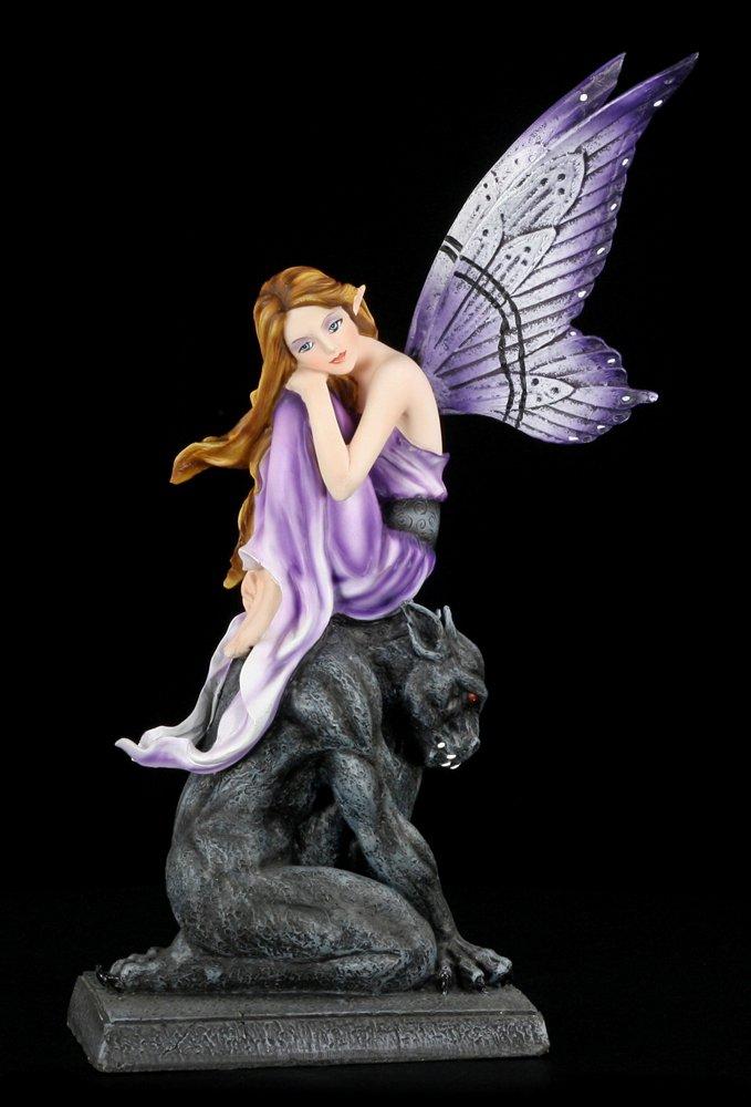 Elfen Figur - Georgiana mit Gargoyle