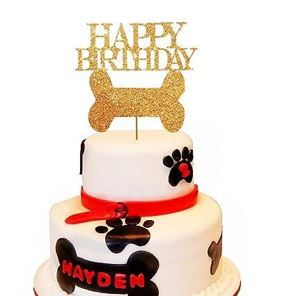 JeVenis Dog Cake Topper Dog Birthday Cake Decoration for Puppy Kid ...