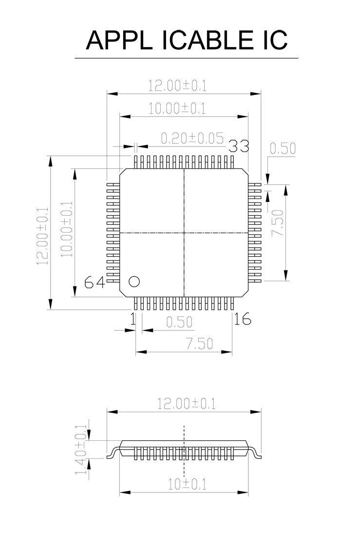 QFP64 TQFP64 LQFP64 Burn in Socket Pitch 0.5mm IC Body Size10x10mm tip to tip 12x12mm FPQ-64-0.5-06 Test Socket Adapter MCU