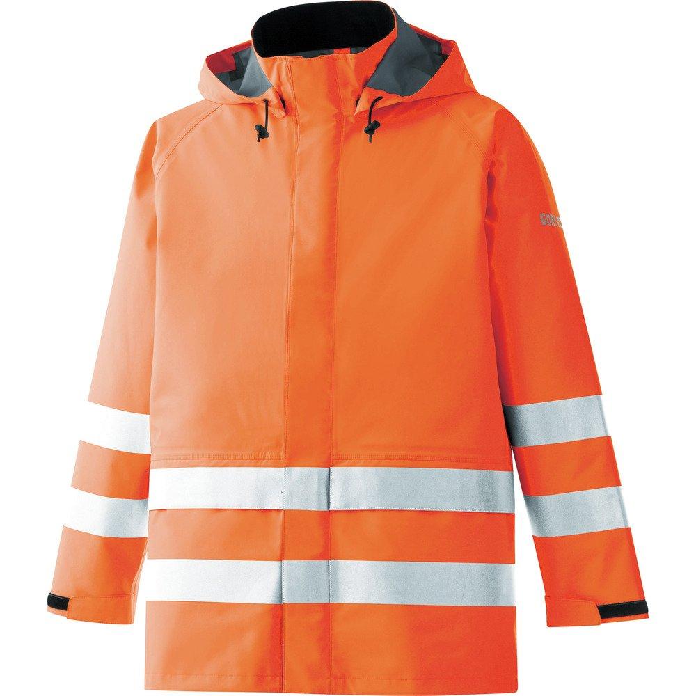 ミドリ安全 雨衣 レインベルデN(R) ゴアテックス(R) 高視認仕様 上衣 B01JHIR1VG M 蛍光オレンジ 蛍光オレンジ M