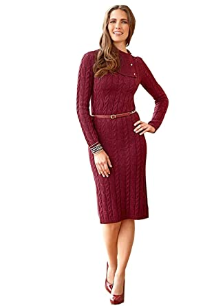 5a4f8757ff1b9 Sales Translations - Robe - Femme Bordeaux-Rot 40 42  Amazon.fr ...