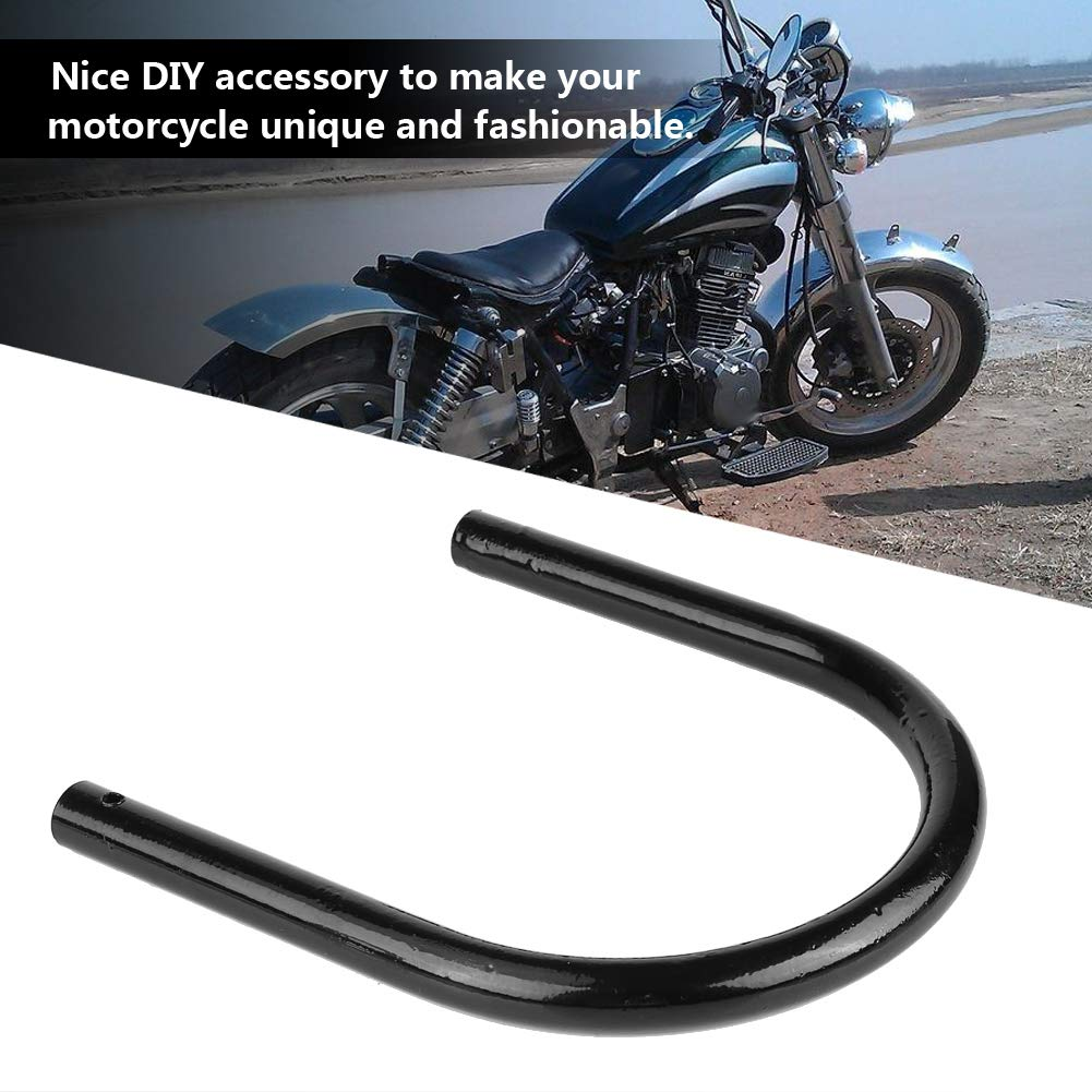 175mm Flat tube KIMISS Motorcycle Rear Seat Seat Frame Mounting Bracket Frame Loop Hoop Mount Assembly Car Seats Accessories