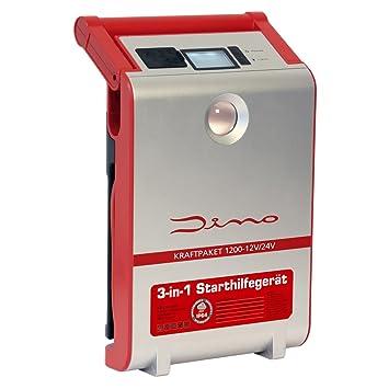 Dino 136106 Fuerza del paquete de 12 V/24 V 1200 a arranque dispositivo con