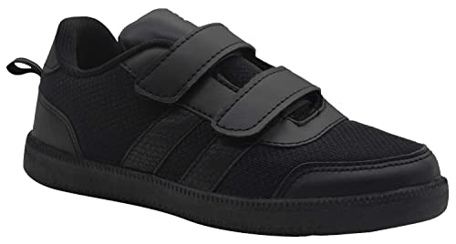 14851216b2509 SKUDO KazarMax Boy's & Girl's (Unisex) with Superlight Weight Black School  Shoes (Made in India)