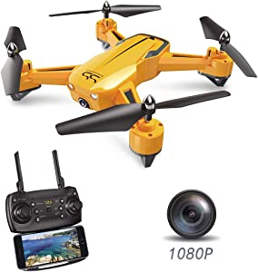 ScharkSpark Drone SS40 The Wasp Drone with 1080P 120° FPV HD Camera/Video, RC Toy Quadcopter Equipped with G-Sensor Technology, Voice Command, Preset Flight Path Hover Technology