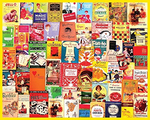 Cookbooks Collage - 1000 Piece Jigsaw Puzzle