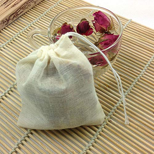 FidgetGear 10/100 Pack Cotton Muslin Drawstring Bags Soap Herbs Tea Reusable Packing Bath 10''x12'' 100 by FidgetGear (Image #2)