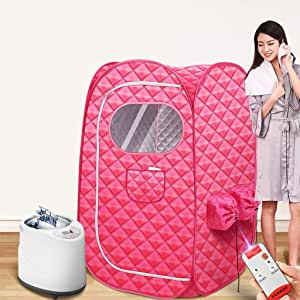 Portable Steam Sauna,Full Body Two Person Spa Tent, 2L Steamer with Remote Control, eco-Friendly Indoor Weight Loss Detox Therapy
