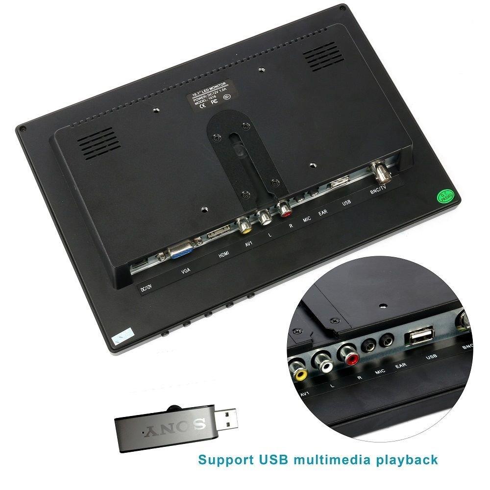 10.1'' HD USB Multi-Media Player IPS LCD 1280x800 HDMI AV BNC VGA TFT LED Monitor by YaeCCC (Image #6)
