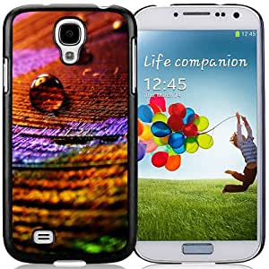 Fashionable And Unique Designed Cover Case For Samsung Galaxy S4 I9500 i337 M919 i545 r970 l720 With Colorful Cloth Water Drop Macro_Black Phone Case