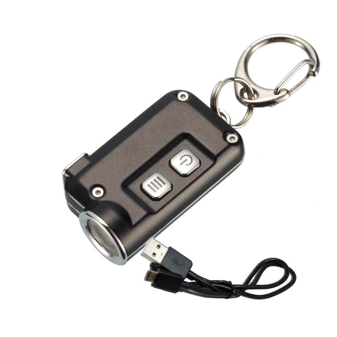 Nitecore TINI 380 Lumens USB Rechargeable Keychain Flashlight with Lumen Tactical Charging Cable - Available in 7+ Colors, Aluminum, Copper or ...