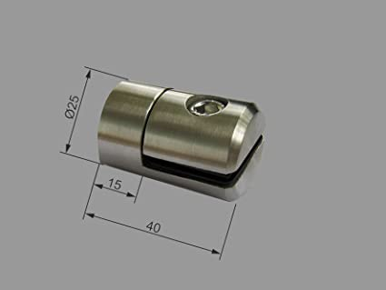 Pmc Chapa de acero inoxidable soporte para tubo cuadrado 25 ...