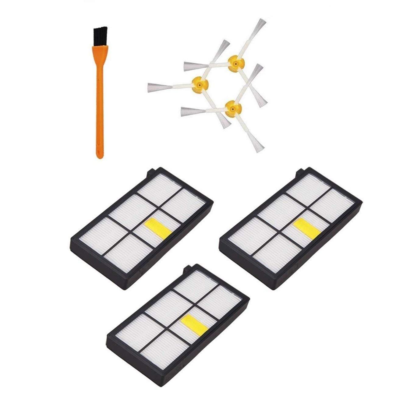 SODIAL 3pcs 980 Filtros Hepa Compatible para iRobot Roomba 980 860 ...