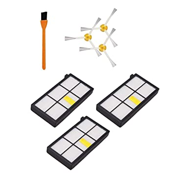 SODIAL 3 Piezas 980 Hepa Filtros Compatible para Irobot Roomba 980 860 880 870 Aspiradora Robótica