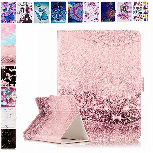 Universal 7 Inch Case Rose Gold Marble, E-Mandala Pretty Cute Pattern...