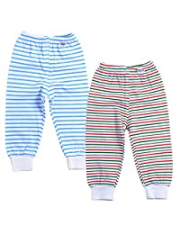 Monvecle Unisex Baby 2 Pack Newborn to Toddler Cotton Long Pants 0-3Y