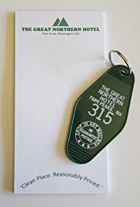 The Great Northern Hotel Room # 315 Twin Peaks Inspired Key Tag and Notepad Set