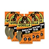 Gorilla Tape, Black Duct Tape To-Go, 1'' x 10 yd, Black, (Pack of 5)