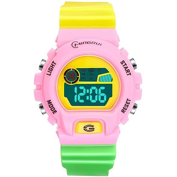 Reloj Deportivos para Niños Niño Niña Resistente al Agua Digital Impermeabl al Aire Libre LED Reloj