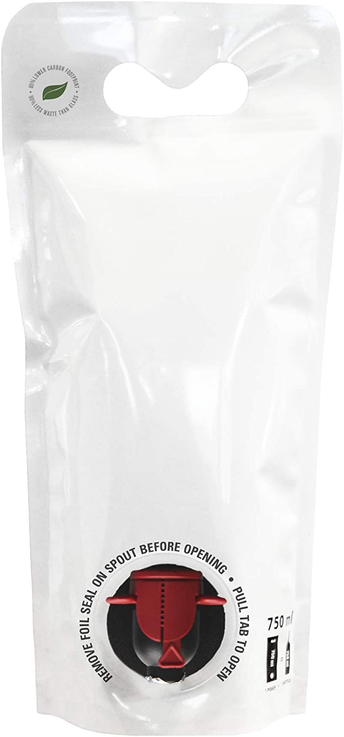 750mL Wine Pouches (12 pack) [Eco-Friendly Wine Bottle Alternative] - Easily Bottle, Dispense & Store Your Wines - Perfect For Home Winemakers and Small Wineries to Sell in Your Tasting Room!