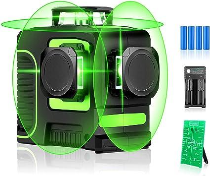 Self-Leveling Green Beam Horizontal Vertical Seesii Laser Level 2X 360/° Cross Line
