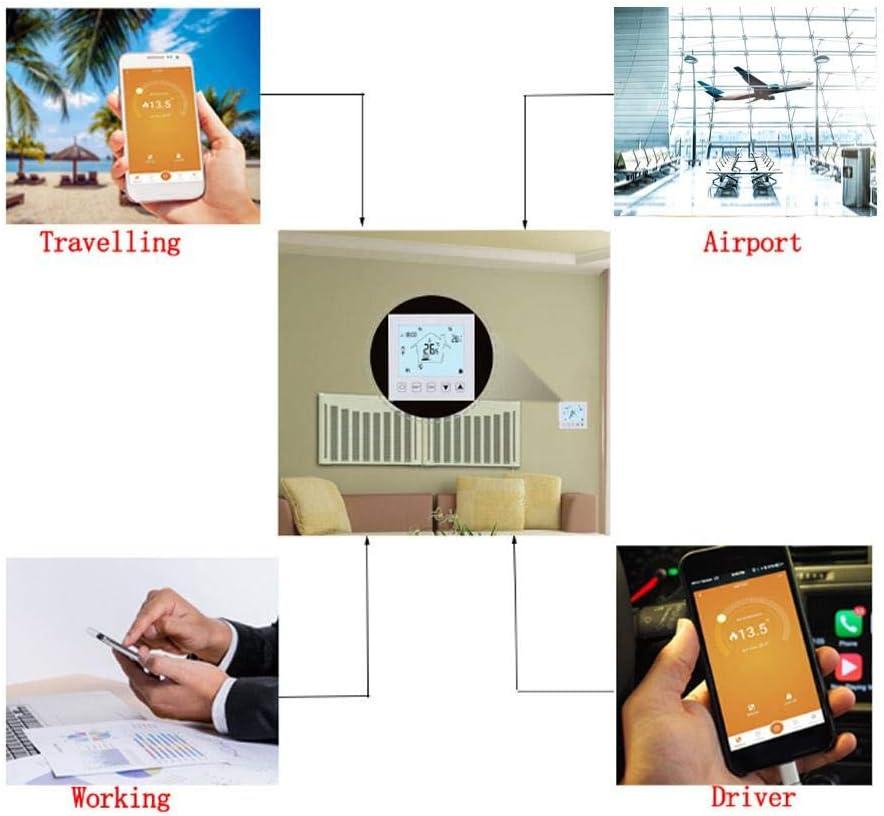 Duokon Thermostat LCD /à /écran Tactile Thermostat de Sol WiFi T/él/écommande Intelligente Contr/ôleur temp/érature Maison APP WiFi Chauffage par Le Sol T/él/écommande Thermostat AC100~240V 50//60HZ