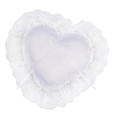 Fenteer Romántico Lazo De Encaje Blanco En Forma De Corazón ...