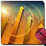 100 chart mat - Liili Suqare Mousepad 8x8 Inch Mouse Pads/Mat Financial and business chart and graphs Photo 19334833