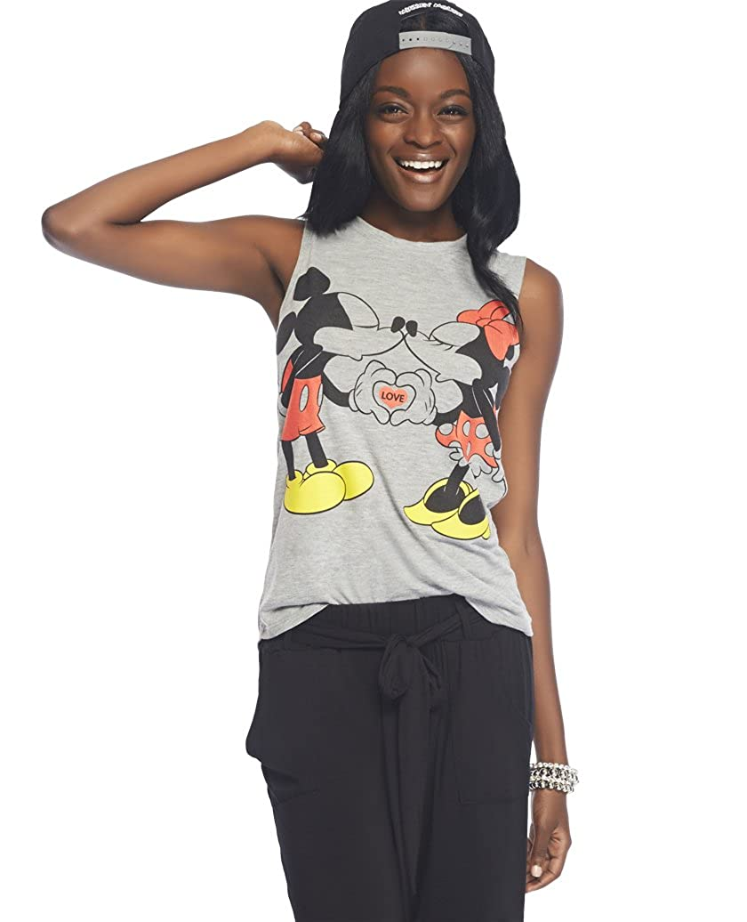 c9100ecc Wet Seal Women's Mickey & Minnie Mouse Tank S Charcoal Heather: Amazon.ca:  Clothing & Accessories