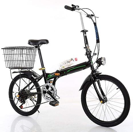 LPsweet Bicicleta Plegable, 20 Pulgadas Portátil Plegable De Dos ...