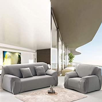 Haihuic Stretch Sofa Bezug Couch Bezug 3 Sitzer Amazon De Elektronik