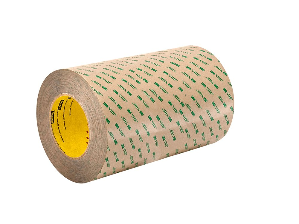 L Adhesive Tapes W 3M VHB F9473PC Adhesive Transfer Tape x 4 in Pack of 25 Transparent Tape Strip for Permanent Bonding - 2 in