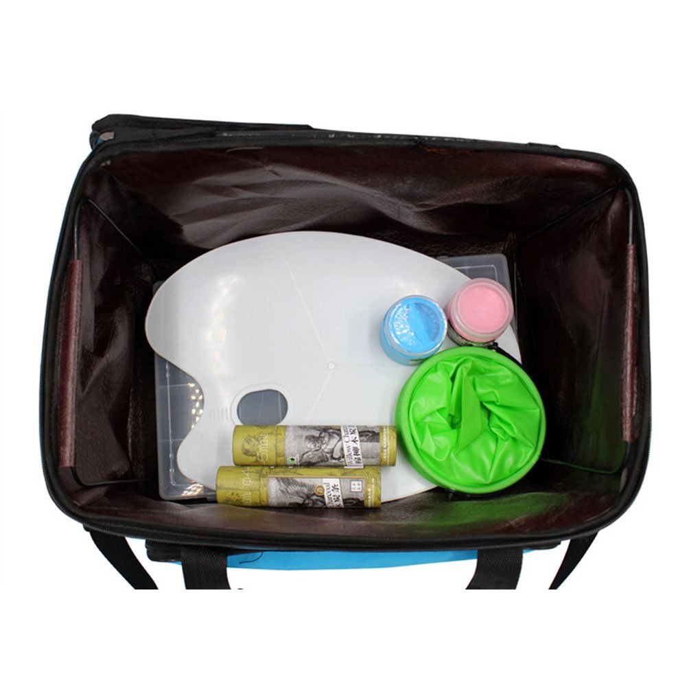 Green Waterproof Art//Craft Supplies Storage Tote Bag Artist Travel Portfolio Carrying Bag Case Painting Box Large Capacity Messenger Bag for Painting Brushes Pencils Palette Paints Sketchbook