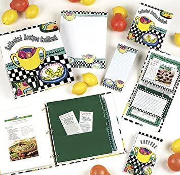 Meadowsweet Kitchens CR368AC Abstract Cafe Collection Recipe Book
