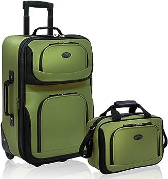 2-Piece U.S. Traveler Rio Rugged Fabric Expandable Carry-On Luggage Set