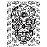 Art Zone RPAZ360 Rolled Sugar Skull 2 Coloring Poster