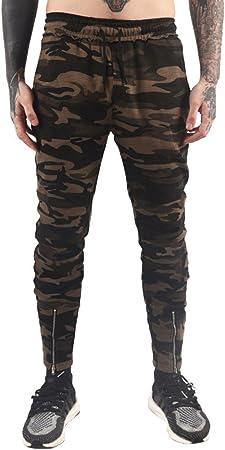 Hombre Jogger Cargo Pantalones Casual Tarnung de impresión Stretch ...