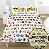 Emoji Double Duvet Cover Emoji Multi Double/US Full Duvet Cover and Pillowcase Set