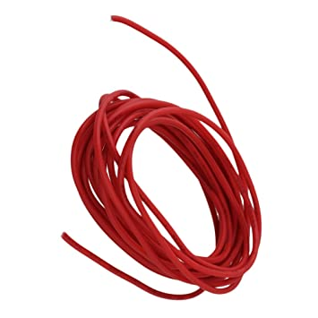 Yibuy 22AWG Red 9 Foot Guitar Circuit Wire UL1007 Single Copper ...