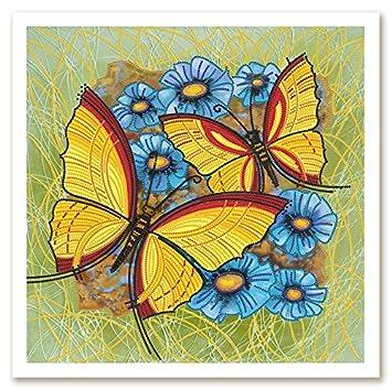 Schmetterling Butterfly Stickpackung Stickbild Stickvorlage Bild sticken